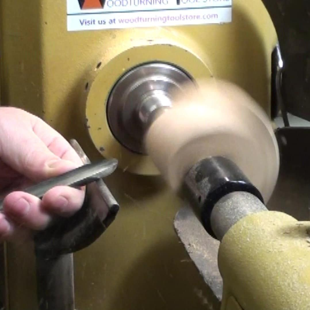 """turning with 1/2"""" spindle gouge"""